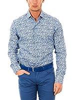 McGregor Camisa Hombre Lugano Bruce 4 Tf Ls (Azul / Blanco)