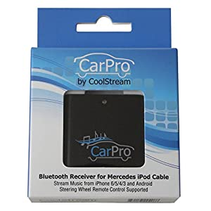 Bluetooth Adapter for 2011 or Earlier Mercedes iPod iPhone 30 Pin Cable - CoolStream CarPro