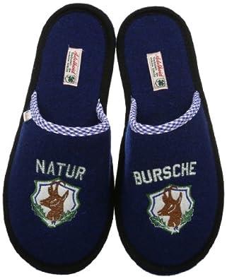 Adelheid Naturbursche Filzpantoffel 12141083654, Herren Pantoffeln, Blau (enzianblau 276), EU 40/41