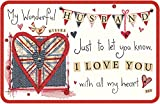 Husband Keepsake Card - My Wonderful Husband