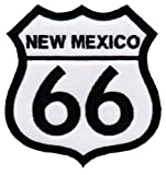 Route 66 New Mexico Embroidered Patch Iron-On Highway Road Sign Biker Emblem, Bags Central