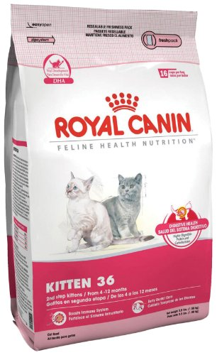 See Royal Canin Dry Cat Food, Kitten 36 Formula, 15-Pound Bag