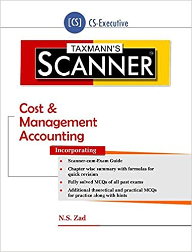 Scanner-Cost & Management Accounting (CS-Executive) (July 2016 Edition)