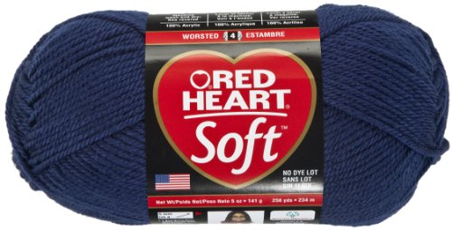 Red Heart Soft Yarn, Navy