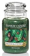 Yankee Candle Large 22-Ounce Jar Candle Balsam   Cedar