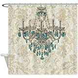 CafePress modern chandelier damask fashion paris art Shower Shower Curtain -