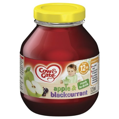 Cow & Gate Apple & Blackcurrant Diluted Fruit Juice 125ml - Pack of 6