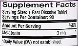 Natrol Melatonin 3mg Fast Dissolve Tablets, Strawberry, 90-Count