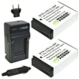 Wasabi Power Battery (2-Pack) and Charger for Canon LP-E12 and Canon EOS M, EOS Rebel SL1, EOS 100D