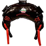 Bulgarian Bag - New Black PVC - Suples - The Original (Fitness, Crossfit, Wrestling, Judo, Grappling, Functional Training, MMA, Sandbag, Training Bag, Weighted Bag, Weight Bag) (50)