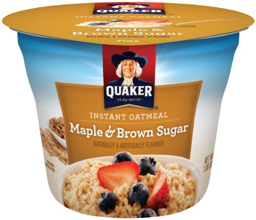 Quaker Instant Oatmeal Express Maple Brown Sugar, 1.69-Ounce Cups (Pack Of 3)