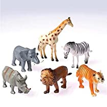 Dozen Plastic Toy Safari Animals 4 1/2