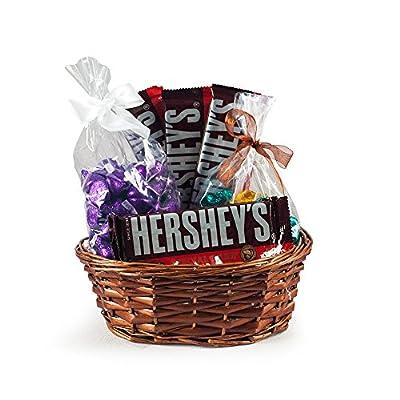 Dark Chocolate Gift Basket - Hershey's Dark Chocolate Kisses - Special Dark Full-Size Bars - Foil Wrapped Dark Chocolate Stars- Special Dark Gift Basket - 2 lb.
