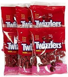 Twizzlers Cherry Nibs Peg Bag, 6 oz, 6 pk