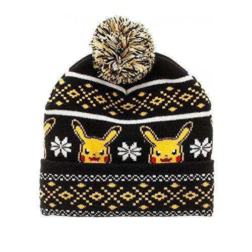 Pokemon-Pikachu-Knit-Pom-gorro