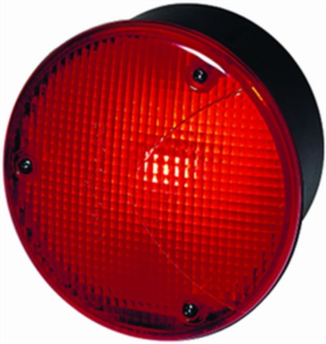 Hella H23169057 4169 Series 100 Watt 12-36 V Peavy Duty P21W Type Red Tail Lamp