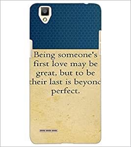 PrintDhaba Quote D-2646 Back Case Cover for OPPO F1 (Multi-Coloured)