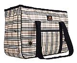 Enjoying Doggie Puppy Carriers Travel Bag Cat Carrier Grid Handbag -L