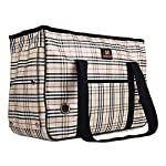 Enjoying Doggie Puppy Carriers Travel Bag Cat Carrier Grid Handbag -S