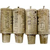Wine Cork Candles - Gift Set of 4 (Fits any Wine Bottle) - Perfect Novelty Gift Item