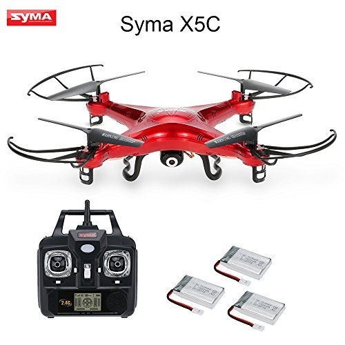 Syma-X5C-Drone-with-20MP-HD-Camera-3D-Flips-HighLow-Speed-LeftRight-Mode-RC-Quadcopter-Extra-Two-Batteries-GoolRC-Nylon-Handbag
