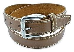 Moda Di Raza Men's Genuine Leather Dress Belt in Versatile Casual or Formal - Tan/XL