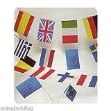 European Flag Bunting - Massive 33 feet (10 M) 28 European countries + 1EEC