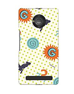 Pick Pattern with Exclusive DISNEY Characters Back Cover for Micromax YU Yuphoria