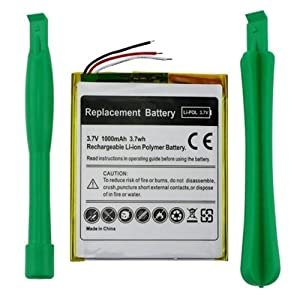 eForCity PortaCell 3.7V, 1000mAh replacement battery kit Compatible With Apple® iPod touch® 1st Gen. (616-0343)