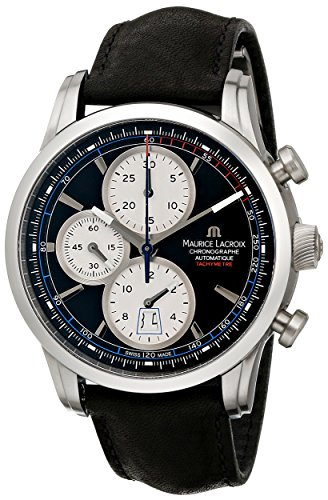 Maurice Lacroix Men'S Pt6288-Ss001-330 Pontos Analog Display Swiss Automatic Black Watch