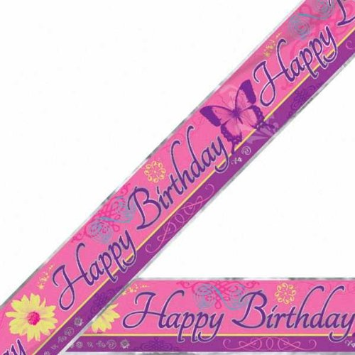 Butterfly Chic Foil Birthday Banner (1ct)