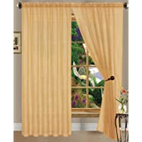 2-Pack: Linda Sheer Voile Curtain Panels (Multi colors)