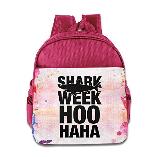 Good Gift Kid's Bags - Geek Shark Week HOO HAHA Toddler Backpack School Backpack For 3 - 6 Years Child