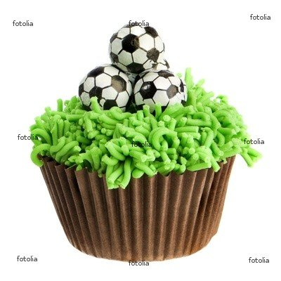 "Wallmonkeys Peel and Stick Wall Graphic - Football Cupcake - 36""H x 36""W"