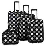 Fox Luggage F106-BLACK DOT 4Pc Blackdot Luggage Set Rockland
