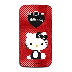 Mozine Hello Kitty Printed Mobile Back Cover For Samsung Mega 5.8