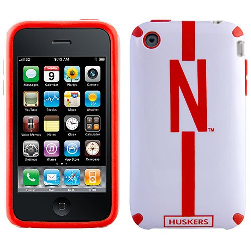 NCAA Nebraska Cornhuskers Helmetz Cover for iPhone 3G S