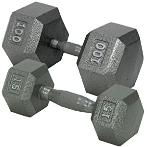 Champion Barbell 5-Pound Hex Dumbell with Ergo Handle