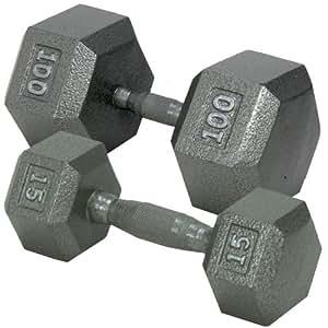 Champion Barbell Solid Hex Dumbbells, 3lb