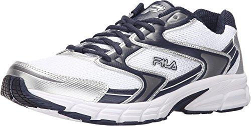 Fila Men's Xtent 3 White/Fila Navy/Metallic Silver Sneaker 11 D (M)