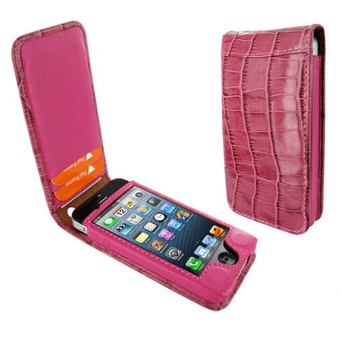 Best Price Apple iPhone 5 / 5S Piel Frama Pink Crocodile Magnetic Leather Cover