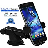 #10: Mystical Master™ Mobile Holder for Car, Mobile Phone Holder & Stand , Premium Quality Universal Cell Phone Holder & Car Mount with One Touch design & 360°Rotation for all Smartphone's for use on Car Dashboard/Windshield/ Glass/ Mirror, Home Desk & Office Table for Apple iPhone, Android and Windows Mobile Phones