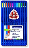 Staedtler ergosoft Colouring Pencils asst pack 12