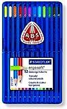 STAEDTLER エルゴソフト ソフト三角軸 色鉛筆 12色セット