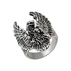 Sarah Flying Eagle Finger Ring for Men - Silver [Jewelry]