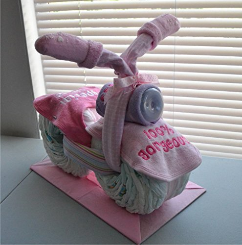 Motorcycle Diaper Cake - Baby Shower Diaper Cake - Nursery Diaper Cake - Baby Shower Gift - Mom to Be Cake - Baby Gift (Cycle For Baby compare prices)