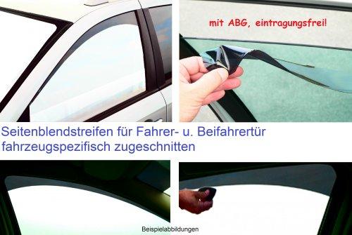 Seitenblendstreifen für die vorderen Seitenfenster Mercedes Benz E-Klasse Limousine W211 BJ. 2002-2009