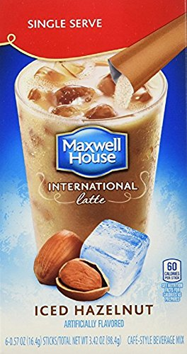 Maxwell House International Coffee Hazelnut Iced Latte Singles, 6 Count, 3.42-Ounce Boxes (Pack of 8) (Coffee Cooler compare prices)