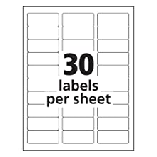 Avery Easy Peel Address Labels for Inkjet Printers, 1 x 2.625 Inches, Clear, Pack of 750 (08660)