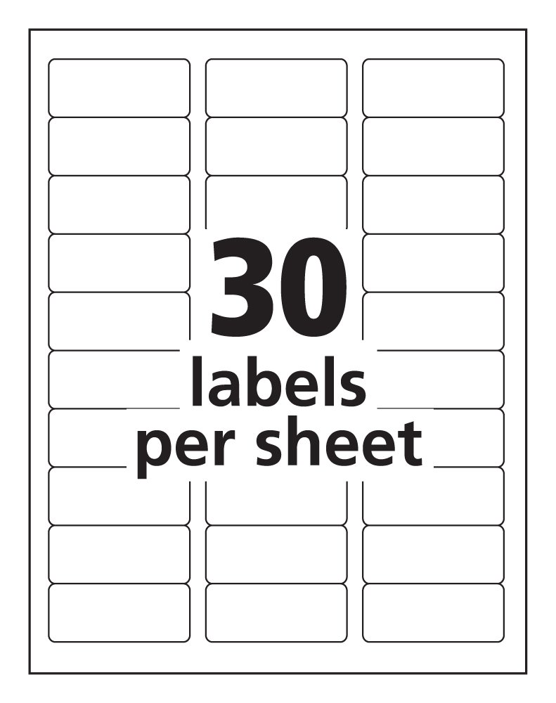 Avery Labels Template Blank - Labels by the sheet templates